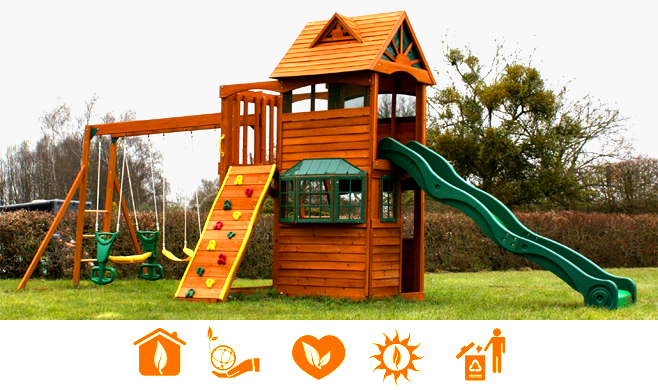 Дитячі дерев'яні майданчики